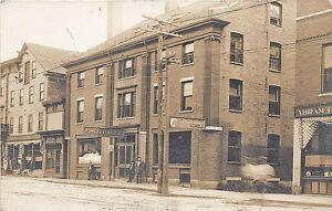 Saco ME Saco House Chadbourne's Horse Stable Street View RPPC Postcard