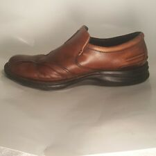 Clark Waves Slip Ons Men's Size 9 M Brown Leather