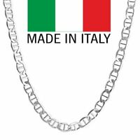 925 Sterling Silver 3.5mm Mariner Gucci Italian Chain Necklace in 925 18''-30''