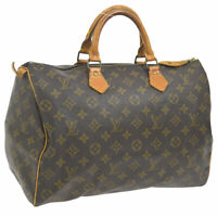 LOUIS VUITTON SPEEDY 35 HAND BAG MONOGRAM CANVAS LEATHER M41524 A46520i