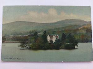 Blairgowie Scotland Vintage colour Postcard c1910 Clunie Loch & Castle