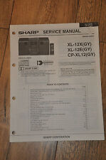 Sharp XL-12X XL-12E CP-XL12 stereo Stack Music Centre Vintage Service Manual
