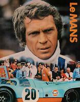 Affiche Originale de Film - Le Mans - Steve Mc Queen - Porsche - Automobile 1971