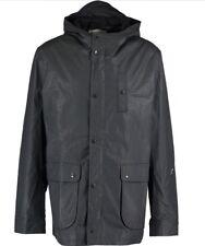 OLIVER SPENCER Charcoal Waxed Coat Size XLarge