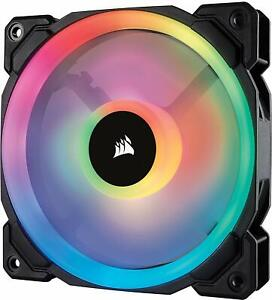 Corsair CO-9050071-WW LL120 120 mm Dual Light Loop RGB LED PWM Fan - Black