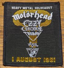 MOTORHEAD OZZY VARDIS HEAVY HOLOCAUST AUG 1981 WOVEN CLOTH SEWING SEW ON PATCH