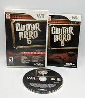 Guitar Hero 5 (Nintendo Wii, 2009) With Manual Tested and Working