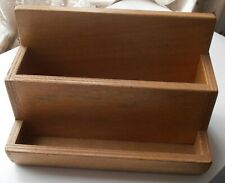VINTAGE WOODEN DESK TIDY, LETTER RACK, ENVELOPE STORAGE