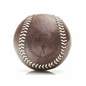 Vintage Retro Baseball aus Echtleder mit weißen Nähten