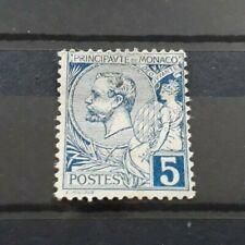 TIMBRE MONACO NEUF sans gomme N°13  5c bleu. refA02
