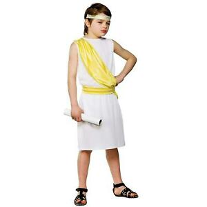Kids Ancient Greek Boy Costume Roman Fancy Dress Ages 5-10 Years