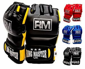 RingMaster MMA Gloves Grappling Training Cage Fight Punch Mitts UFC Bag Pads