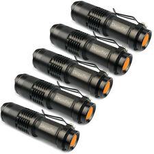 5 x 300LM Zoomable CREE Q5 LED Taschenlampe HandLampe Torch Licht für AA/14500