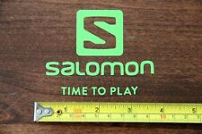 SALOMON Skis Snowboard STICKER Decal NEW Time To Play Green DIE CUT