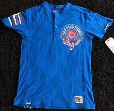 Affliction American Customs Matt Hotch Blue Henley T-Shirt Size S, BEST OFFERS