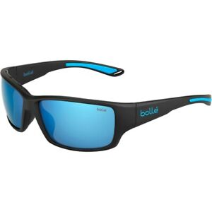 BOLLE KAYMAN SUNGLASSES (MATT BLACK BLUE FRAME POLARIZED OFFSHORE BLUE OLEO AR