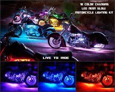 18 Color Led Wireless Suckerpunch Sallys 20pc Motorcycle Led Neon Light Kit