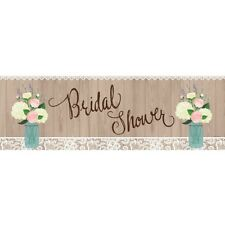 Party Decorations Supplies Engagement Wedding Bridal Shower Giant  Banner