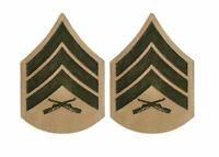 USMC Khaki Shirt Sgt Chevrons - Male