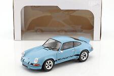 Porsche 911 carrera rsr 2.8 año de fabricación 1974 azul claro 1:18 solido