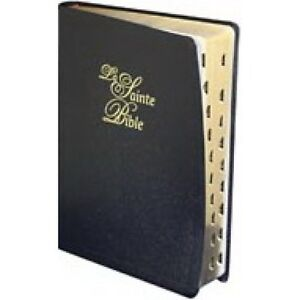 French Bible LARGE PRINT, Louis Segond 1910 Bonded Leather Thumb Index