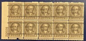 US Stamps  #551, 1/2c Nathan Hale , Pre Can MNH, PB Of 12— 1925 - 82521020