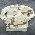 Adidas Pullover Womens Large Desert Camouflage Crewneck Sweater *