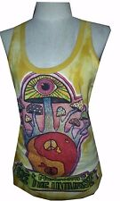 A Yoga tank top sleeveless magic Mushroom Nirvana Zen  Boho Hobo SURE Hippie M