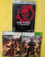 Backwards Compatible for Xbox One Gears of War 1 limited edition+2+3 xbox 360