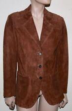 PRADA brown suede suit jacket 42