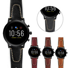 22mm Quick Release Genuine Leather Watch Band Strap Bracelet For Fossil Q Watch