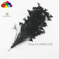 Black 1 Pcs 30 CM Turkey Feathers for DIY Jewelry Wedding Party Craft Decoration