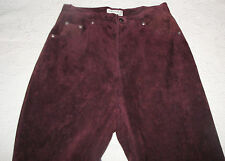 """St John's Bay Russet Brown Washable Suede Leather Jeans Lined 10 30"""" Waist"""