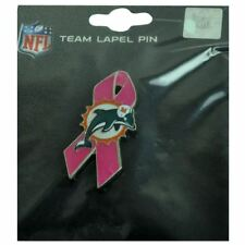 NFL Miami Dolphins BCA Breast Cancer Awareness Fins Lapel Pin Pink Ribbon DN4072