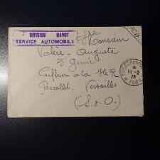 FRANCE LETTRE COVER DIVISION MAROC SERVICE AUTOMOBILE CAD TRESOR ET POSTE 1923