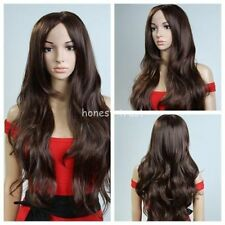 FIXSF404 vogue long brown curly lady's hair wig wigs for modern women