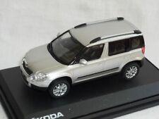 Skoda Yeti 2009 143ab-014ab Diamant Silber Metallic 1/43 Abrex Modellauto Modell