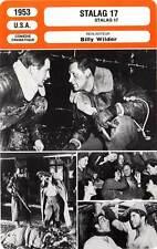 FICHE CINEMA : STALAG 17 - Holden,Taylor,Preminger,Wilder 1953