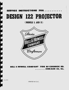 Bell & Howell Design 122 Movie Projector Models L & K Service & Repair Manual