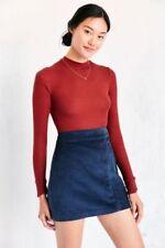 Urban Outfitters Navy Blue Velvet Corduroy A line Skirt