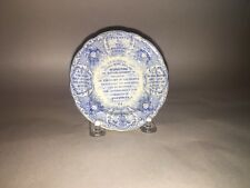 Historical Staffordshire Cup Plate Constitution Of The US Tyrants Foe Ca 1835 RC