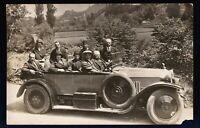 ANTIQUE CAR 1910-20s HOOD ORNAMENT INDIAN CHIEF RPPC PHOTO PC. TRANSPORTATION