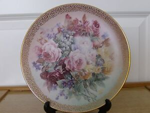 BNIB - 'Rose Fantasy' Limited Edition Plate & Certificate - By W S George
