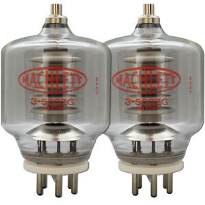 3-500ZG / 3-500Z Machlett High-Mu Power Triode Matched Pair (2) Tubes