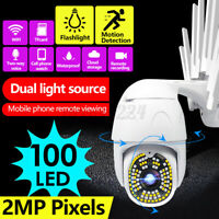 100 LED 1080P 2MP IP Kabellos Wifi Smart Heimsicherheit Kamera 355° Pfanne Kipp