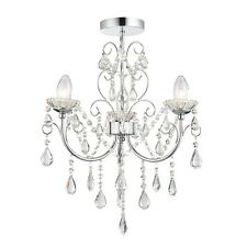 Endon 61251 Tabitha 3 Light Crystal Glass Semi Flush Ceiling Light IP44 Bathroom