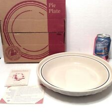 "Rare Usa Classic Blue Grandma Bonnie's 9"" Pie Plate Longaberger New Please Read"