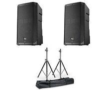 """2 X EV Electro-Voice Elx200-15p 15"""" 2400w Powered DJ PA Speaker 3yr DSP"""