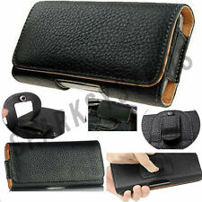 PU Leather Belt Pouch Cover Case For iPhone Phones Belt Loop Clip Case