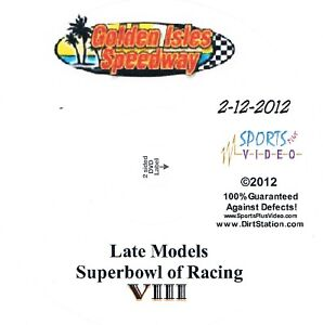 Late Models Superbowl Of Racing DVD From Golden Isles Speedway 2-12-2012